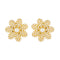 Kriaa Floral Design Gold Plated Pearl Stud Earrings