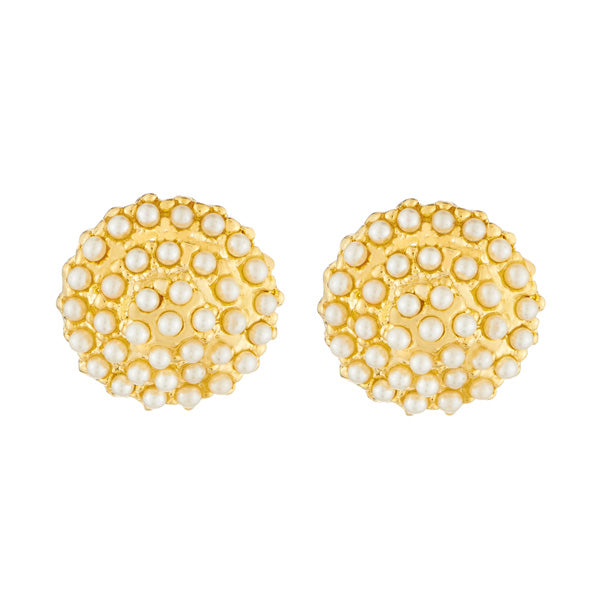 aedc557289a Shop Kriaa Gold Plated Pearl Stud Earrings — Jewelmaze.com