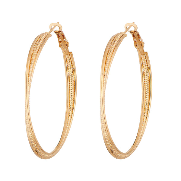 Kriaa Gold Plated Hoop Earrings