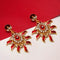 Kriaa Austrian Stone Gold Plated Meenakari  Dangler Earrings