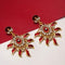 Kriaa Austrian Stone Gold Plated Meenakari  Dangler Earrings  - EB