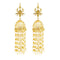Kriaa Gold Plated Stone Pearl Polki Jhumki Earrings