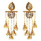 Kriaa Gold Plated Stone Pearl Dangler Earrings