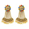 Kriaa Gold Plated Multi Kundan Stone Dangler Earrings
