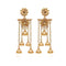 Kriaa Brown Kundan Stone Gold Plated Dangler Earrings
