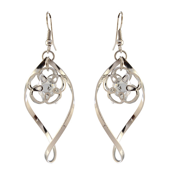 Urthn Silver Plated Dangler Earrings