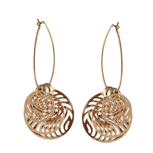 Urthn Gold Plated Round Shape Hoop Earrings