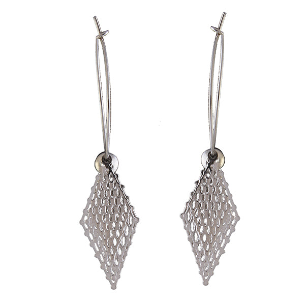 Urthn Rhodium Plated Dangler Earrings