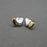 Urthn 2 Tone Plated Stud Earrings
