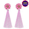 Jeweljunk Pink Thread Tassel Earrings  - EB