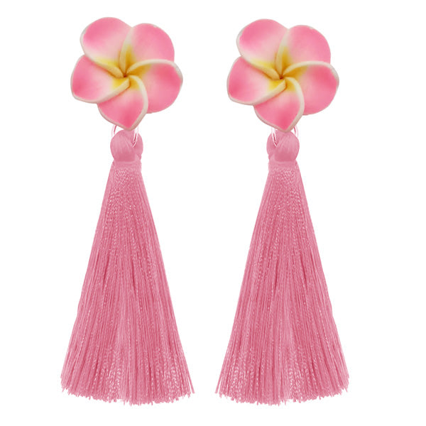 Jeweljunk Thread Gold Plated Tassel Earrings