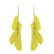 Jeweljunk Gold Plated Yellow Feather Earrings - 1310970B - H