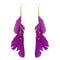 Jeweljunk Gold Plated Purple Feather Earrings - 1310970I - H