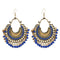 Kriaa Antique Gold Plated Afghani Beaded Dangler Earrings