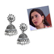Jeweljunk Austrian Stone White Beads Afghani Jhumki Earrings