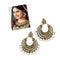 Jeweljunk Antique Gold Plated Beads Afghani Earrings