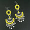 Jeweljunk Yellow And Black Meenakari Afghani Earrings