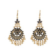Jeweljunk Black Meenakari Gold Plated Afghani Earrings