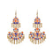 Jeweljunk Purple Meenakari Gold Plated Afghani Earrings