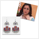 Jeweljunk Silver Plated Meenakari Afghani Earrings