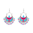 Jeweljunk Rhodium Plated Beads Afghani Earrings