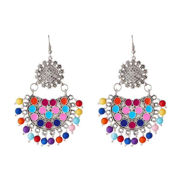Jeweljunk Meenakari Beads Afghani Earrings