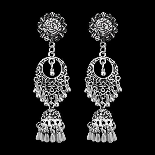 Jeweljunk Oxidised Dangler Jhumki Earrings