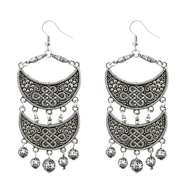 Jeweljunk  Silver Plated Drop Dangler Earrings