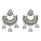 Jeweljunk  Silver Plated Austrian Stone Drop Dangler Earrings
