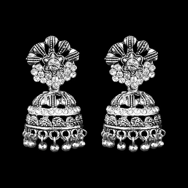 Jeweljunk Oxidised Beads Drop DanglerJhumki Earrings