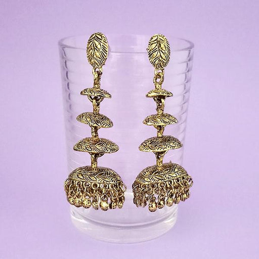 Jeweljunk Gold Plated Jhumki Earrings