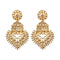 Kriaa Gold plated Austrian Stone Dangler Jhumki Earrings