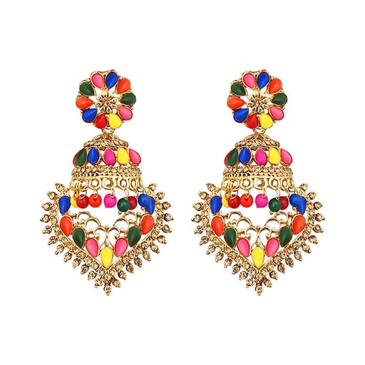 Kriaa Austrian Stone Dangler Jhumki Earrings