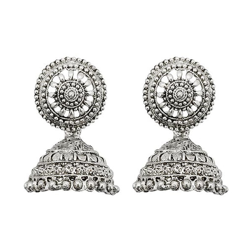 Kriaa Silver Jhumki Earrings