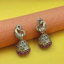 Kriaa Pink Beads Antique Gold Plated Jhumki