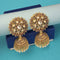 Kriaa Gold Plated Kundan Jhumki Earrings