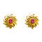 Kriaa Pink Austrian Stone Gold Plated Stud Earring