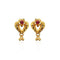 Kriaa Floral Design Gold Plated Stud Earrings