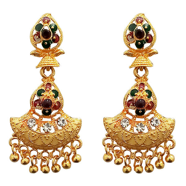 Kriaa Meenakari Gold Plated Dangler Earrings