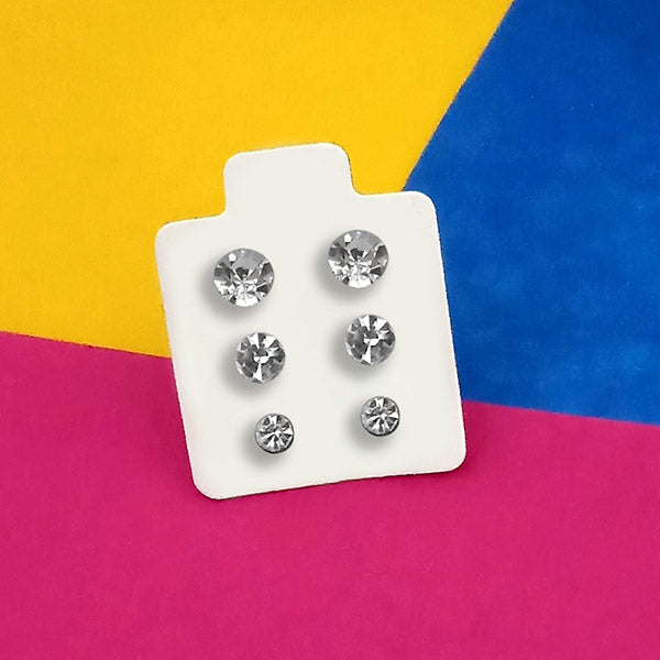 14Fashions Set of 3 Stud Earrings Combo