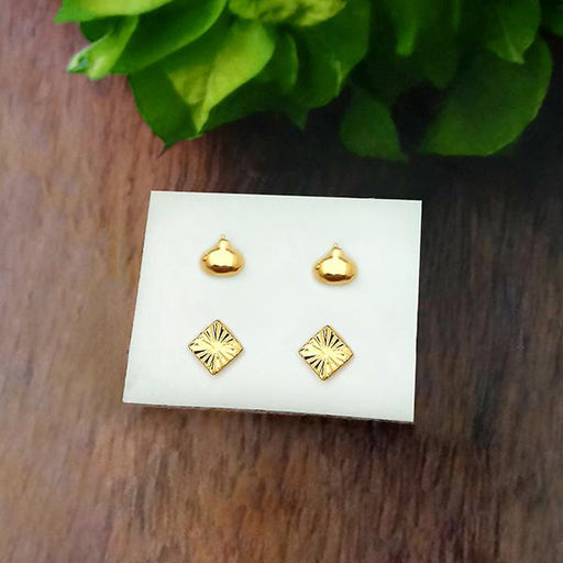 14Fashions Set of 2 Stud Earrings Combo - 1312129