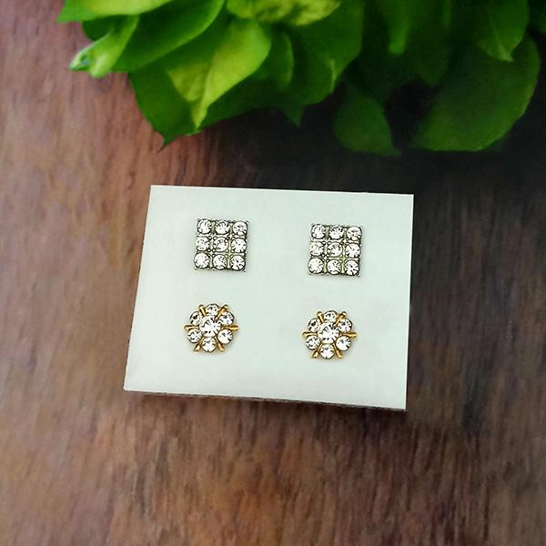 14Fashions Set of 2 Stud Earrings Combo - 1312134
