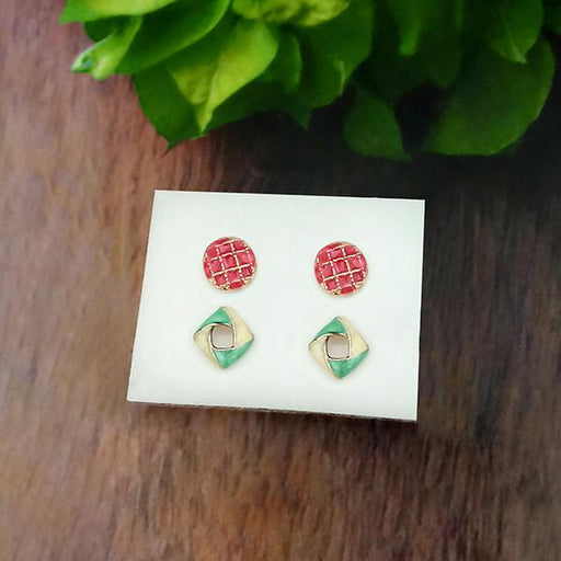 14Fashions Set of 2 Stud Earrings Combo - 1312139
