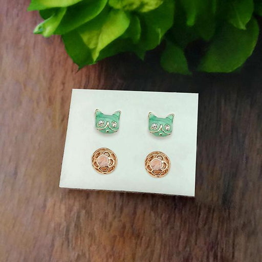 14Fashions Set of 2 Stud Earrings Combo - 1312140
