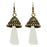 Jeweljunk White Thread Antique Gold Plated Earrings