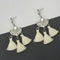 Jeweljunk White Austrian Stone Thread Earrings - 1312321F