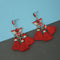 Jeweljunk Red Austrian Stone Thread Earrings - 1312322B