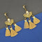 Jeweljunk Yellow Austrian Stone Thread Earrings - 1312326C