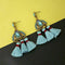 Jeweljunk Blue Austrian Stone Thread Earrings - 1312327A