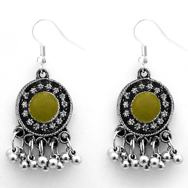 Jeweljunk Oxidised Plated Meenakari Afghani Earrings